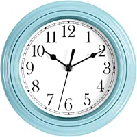 Foxtop Silent Minimalist Non-Ticking Wall Clock Digital Quiet Sweep 9-Inches Home Decor Round Modern Battery Operated…