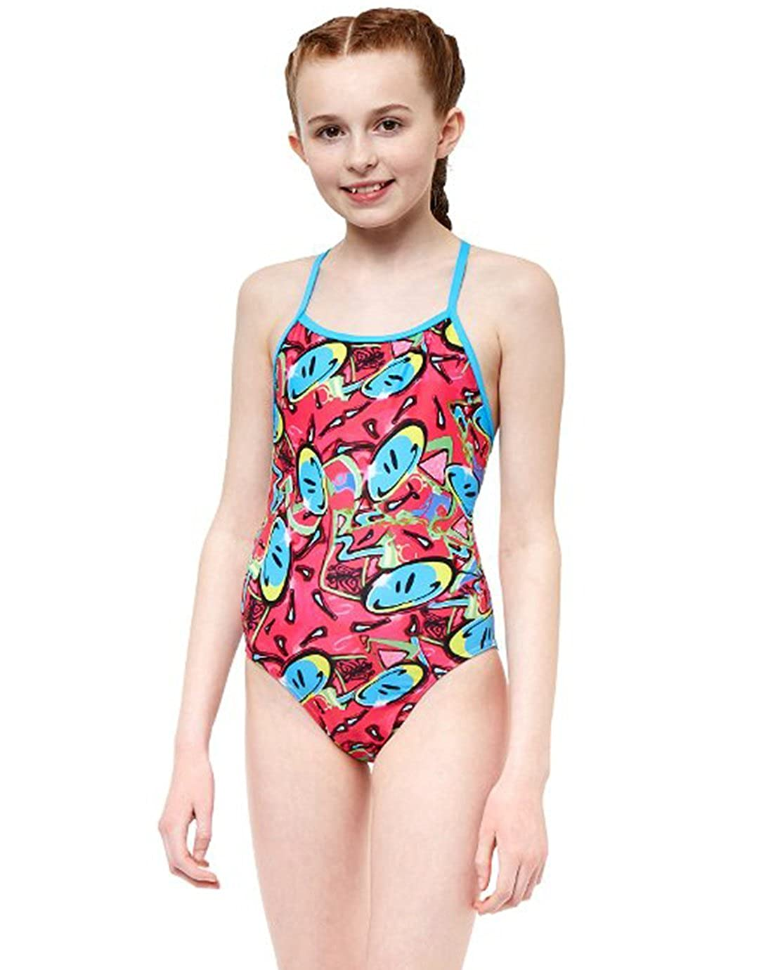 Maru Kids Bounce Pacer Fly Back Swimsuit Pink Size 26