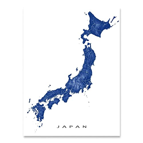 graphic relating to Printable Maps of Japan referred to as Japan Map Print, State Artwork Poster, Wall Decor, Tokyo