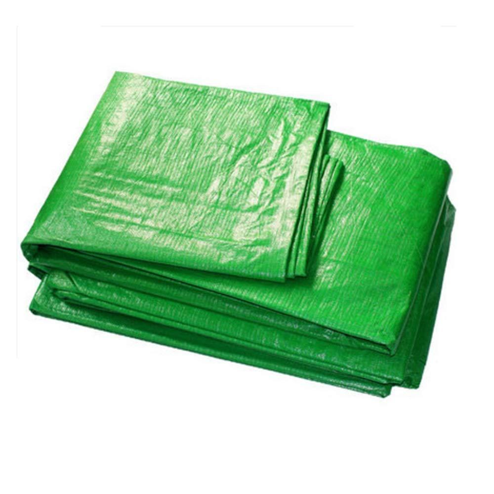 Tarpaulin NAN Plane, grünes, Wasserdichtes PE-Tuch, Sonnenschutztuch, Autoplan, Anti-Aging 20 Größen erhältlich (Farbe : Grün, größe : 4×8m)