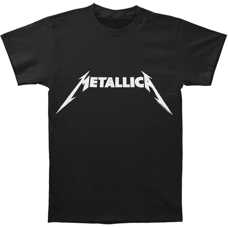Metallica Black And Logo Adult Tshirt