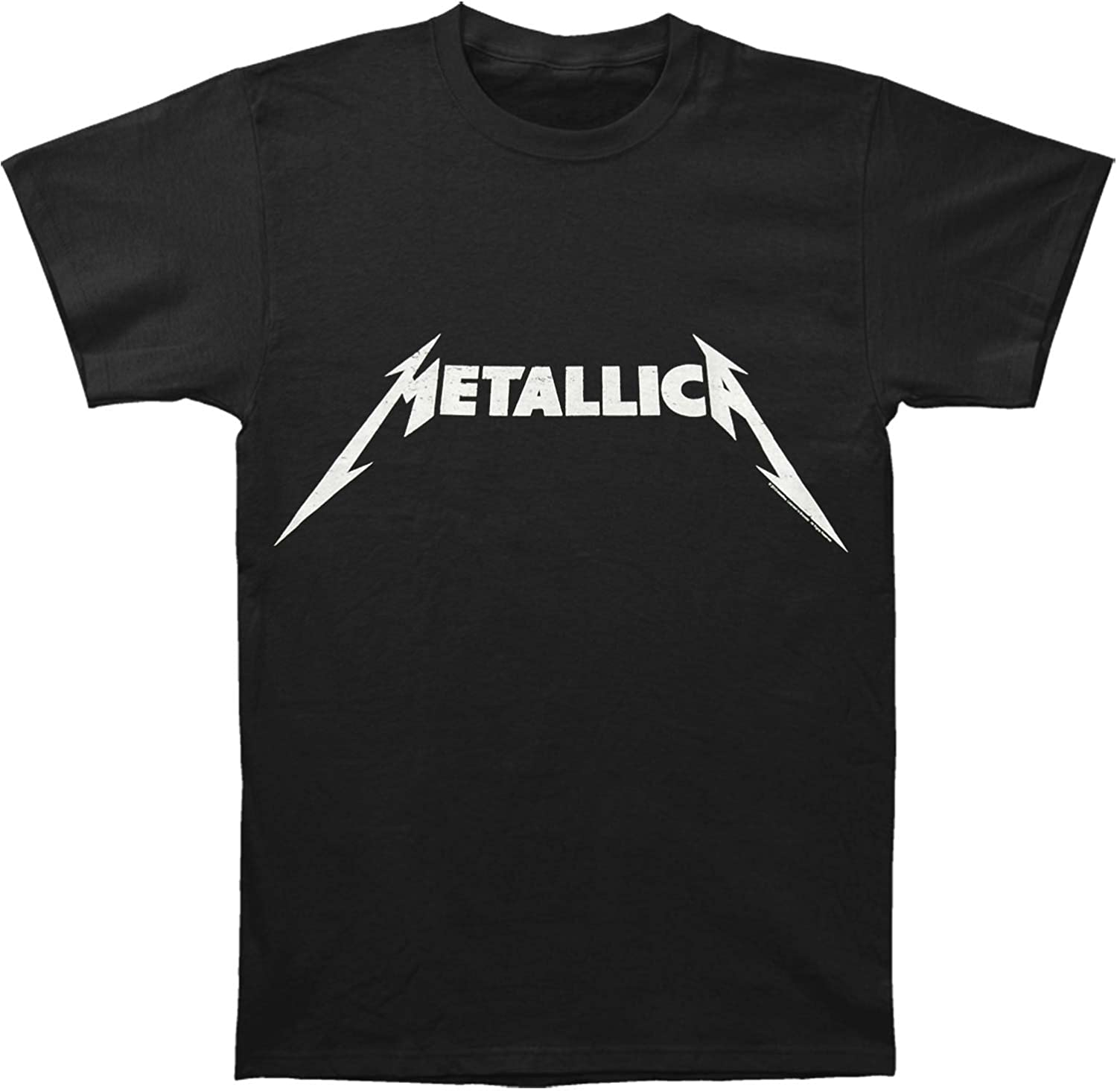 Metallica Black and White Logo Adult T-Shirt