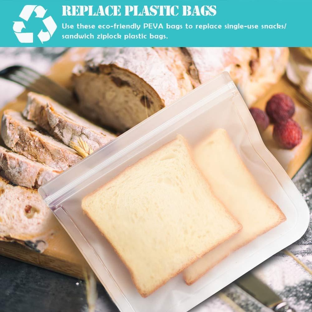 Thursday April 12pcs Bolsas de S/ándwich Reutilizables Bolsas de Congelaci/ón de Almacenamiento de Alimentos para Almuerzo Paquete de Bolsas para Alimentos en el Hogar