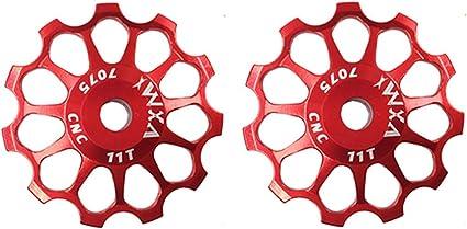 2pcs MTB Road Bike Ceramic Pulley 7005 Aluminum Alloy Rear Derailleur 11//12//13T