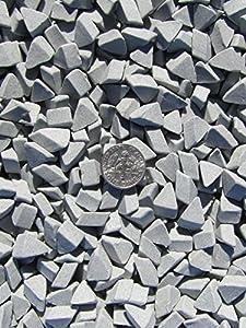 """1 Lb. 1/4"""" X 3/8"""" Abrasive Ceramic Tumbling Tumbler Tumble Media M-GENERAL PURPOSE"""