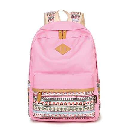 Q.KIM Backpack Mochilas Escolares Mujer Mochila Escolar Lona ...
