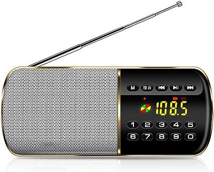 Mini Radio, F8 Radio portátil Antena Dual Radio FM de Banda ...
