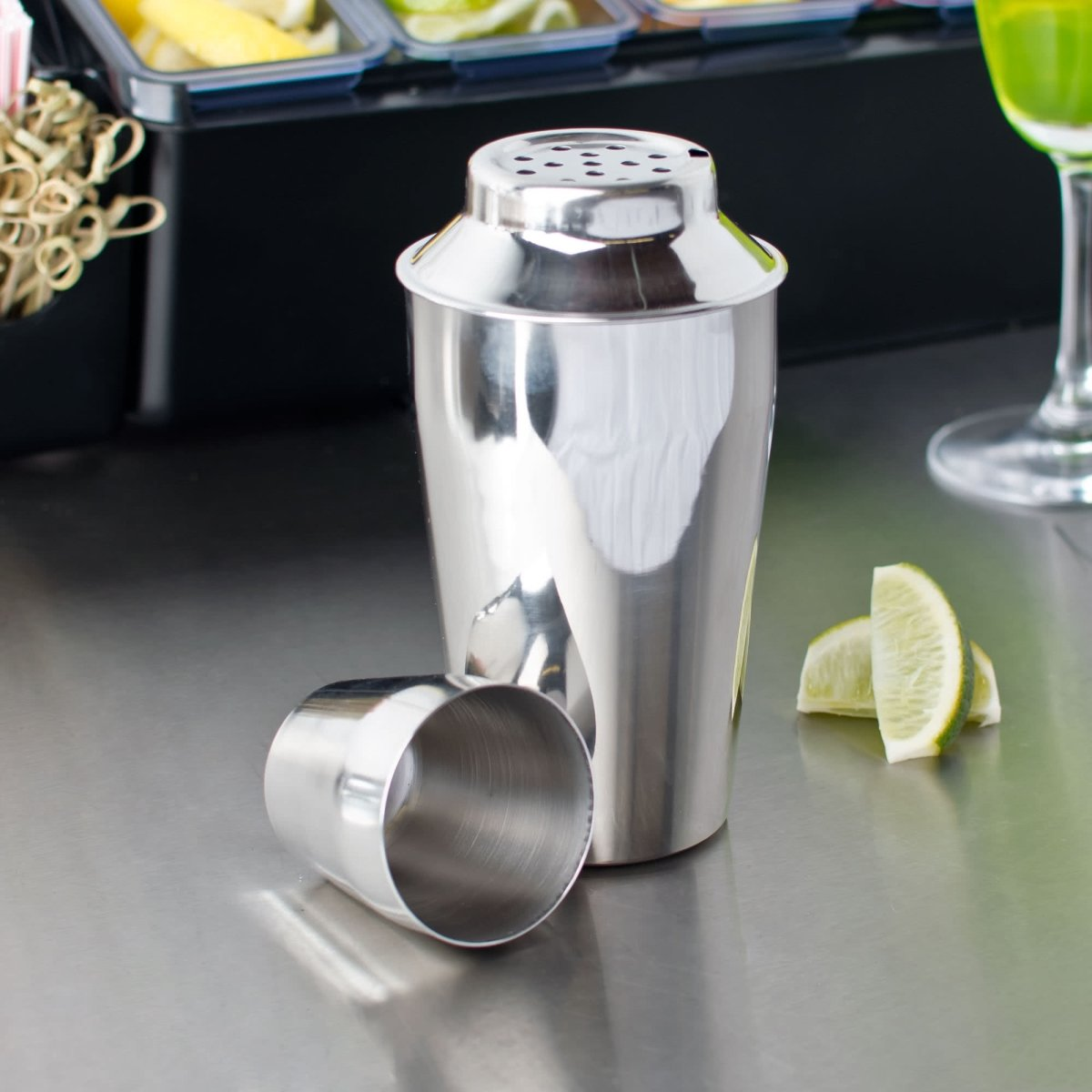 StarCrafts 2335 16 oz Stainless Steel Cocktail Shaker