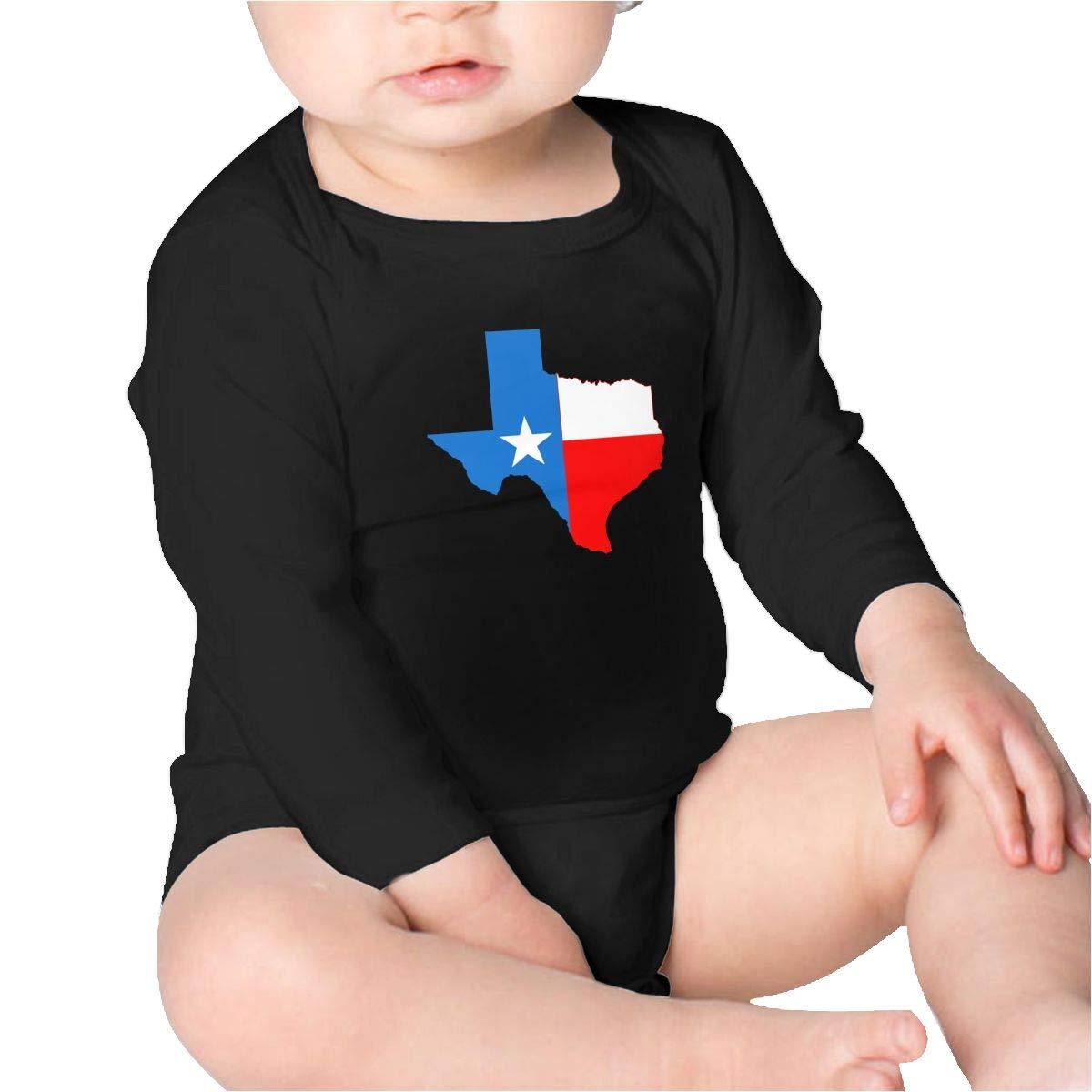 Pikaqiuleilei Texas Flag Kids Cotton,Long Sleeve Infantile Suit