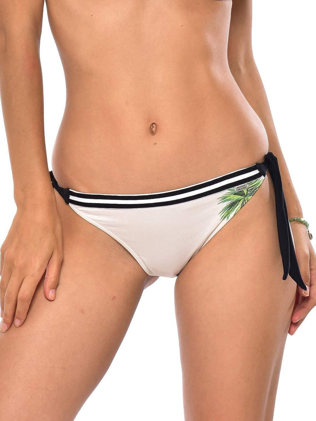 Beige BANANA MOON Sadia SUNPALM Bas de Bikini Culotte Nou/ée