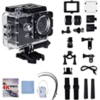 Action Camera,Eonfine 4K Waterproof Sports Camera, Wi-Fi Remote Control Full HD 1080P 60fps, 2 inch LCD Screen Including Full Accessories