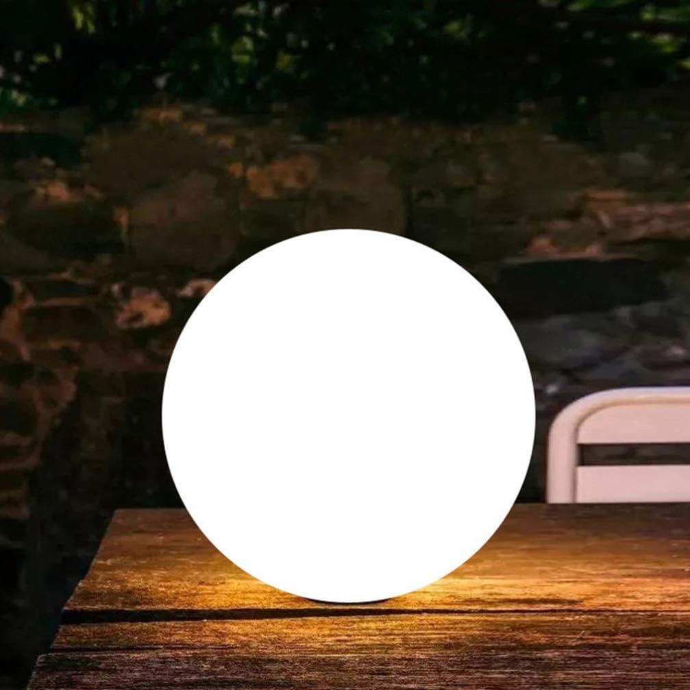 Uonlytech luz de bola led l/ámpara de c/ésped led impermeable con control remoto luz de piscina led para fiesta en el jard/ín 1 piezas 12 cm