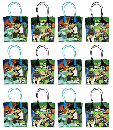 GOODIE BAGS PARTY FAVOR GIFT BIRTHDAY BAGS (free standard shipping for USA only!) (12x Ben 10) Ben 10 Party Favor