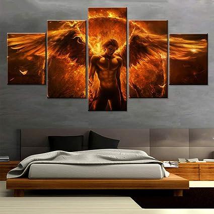 Amazon com: HIMFL Canvas HD Prints Devil Characters Modular