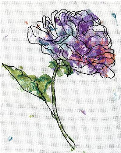- Lilac Floral Counted Cross Stitch Kit-8