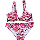 79ad29f9c0e06 Transer® Frauen Mädchen Bikini Set V-Ausschnitt Spezielle Schultern ...