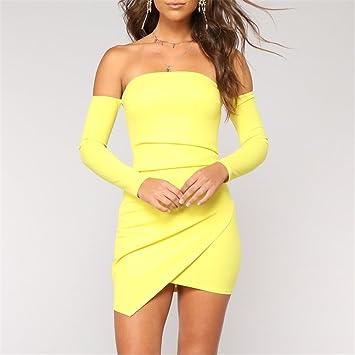 Swallowuk Vestidos para Mujer, Bodycon Vestido, Elástico Lápiz Vestido, Falda Para Fiesta Mini