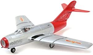 E-flite UMX MiG-15 28mm EDF Jet BNF Basic with AS3X and Safe Select, 411mm, EFLU6050