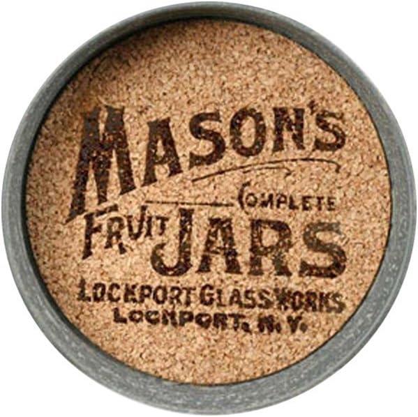 Mason Jar Lid Coaster with Mason Jar Logo - Set of 4