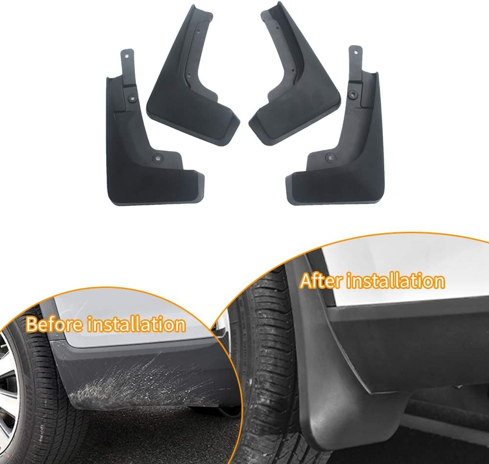Car Custom Mud Flaps Splash Guards for Jeep Cherokee 2014-2018 Fender Flares Mudflaps Mudguards Front and Rear Wheel 4Pcs