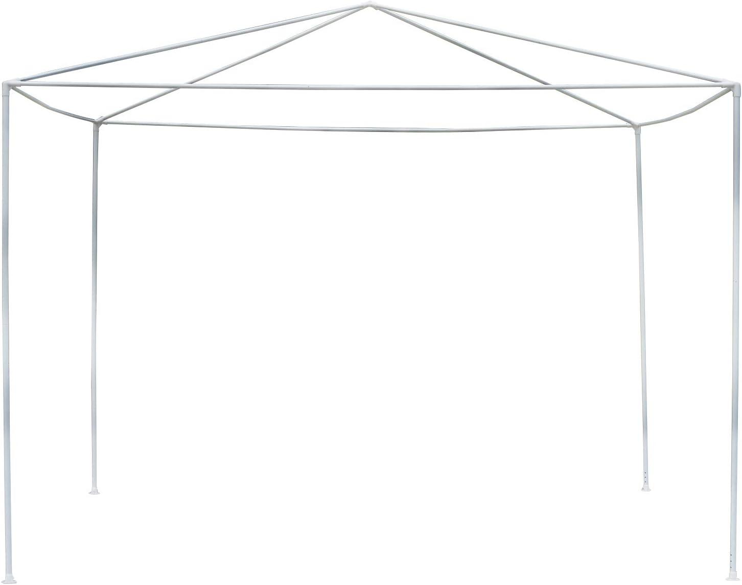 Outsunny Carpa 3x3x2, 45m Pabellón de Jardín de Tubo de Acero Poliester Cenador Tipo Pérgola Blanco para Fiesta Boda: Amazon.es: Jardín