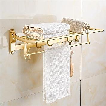 Muzyo Bastidores de baño Bastidor de Toallas Plegable Colgar en la Pared Doble Capa Too Empty Toallero de baño de Aluminio (no Incluye los Productos Que se ...