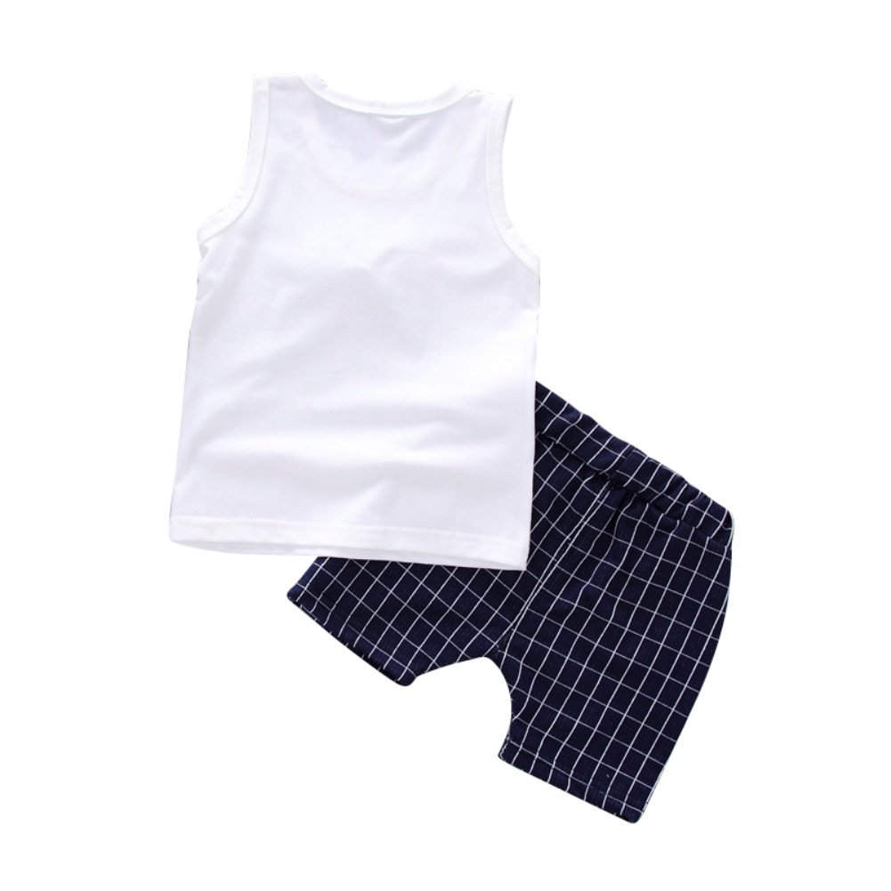 Baywell Kids Baby Boys Clothes Summer Cotton T-shirt+Short Pants Outfits Gentleman Cool with 4 Sizes
