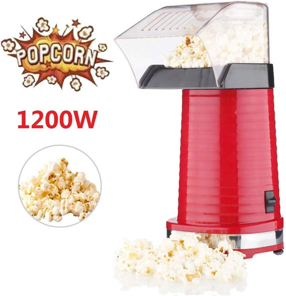 M.Y Maquina de Hacer Palomitas de Maiz, 1400W Automática Popcorn Maker Palomitero Microondas Silicona Listas en 3 Minutos con Calentador de Mantequilla (Rojo): Amazon.es: Hogar