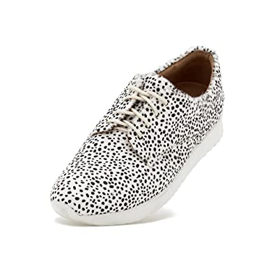 4d66fe6a6485 Amazon.com | Rollie Women's Derby Sport Snow Leopard Print, Spots Haircalf  Sneakers White Athletic Sole Sneakers for Women with Sport Bottom, Size 9  US / 40 ...