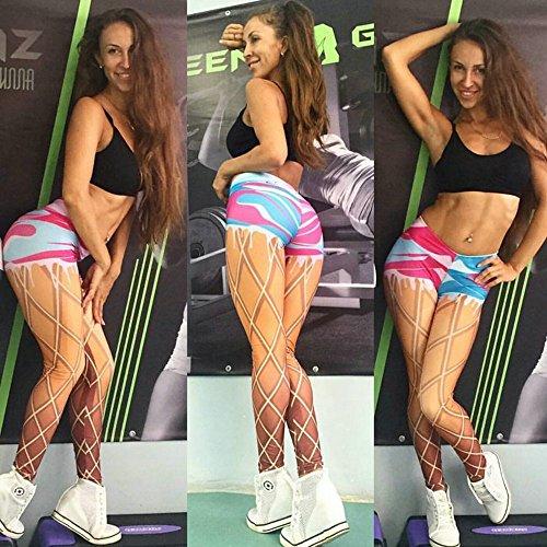 CAILINCOLOR Pantalones de estiramiento de cadera de melocotón Pantalones de entrenamiento de corrida de dibujos animados