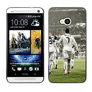 LauStart ( Ronaldo 7 ) HTC One M7 Arte & dise?o plš¢stico duro Fundas Cover Cubre Hard Case Cover para