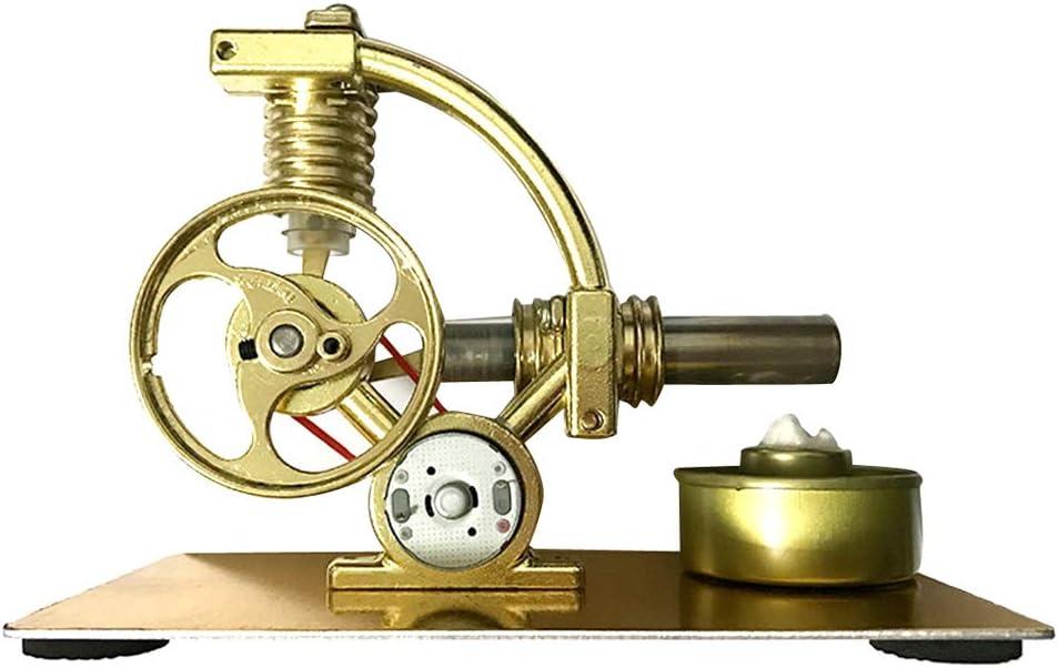 perfk Modelo Educativo de Juguetes Motor de Stirling de Vapor Generador de Electricidad Kits DIY Manualidades