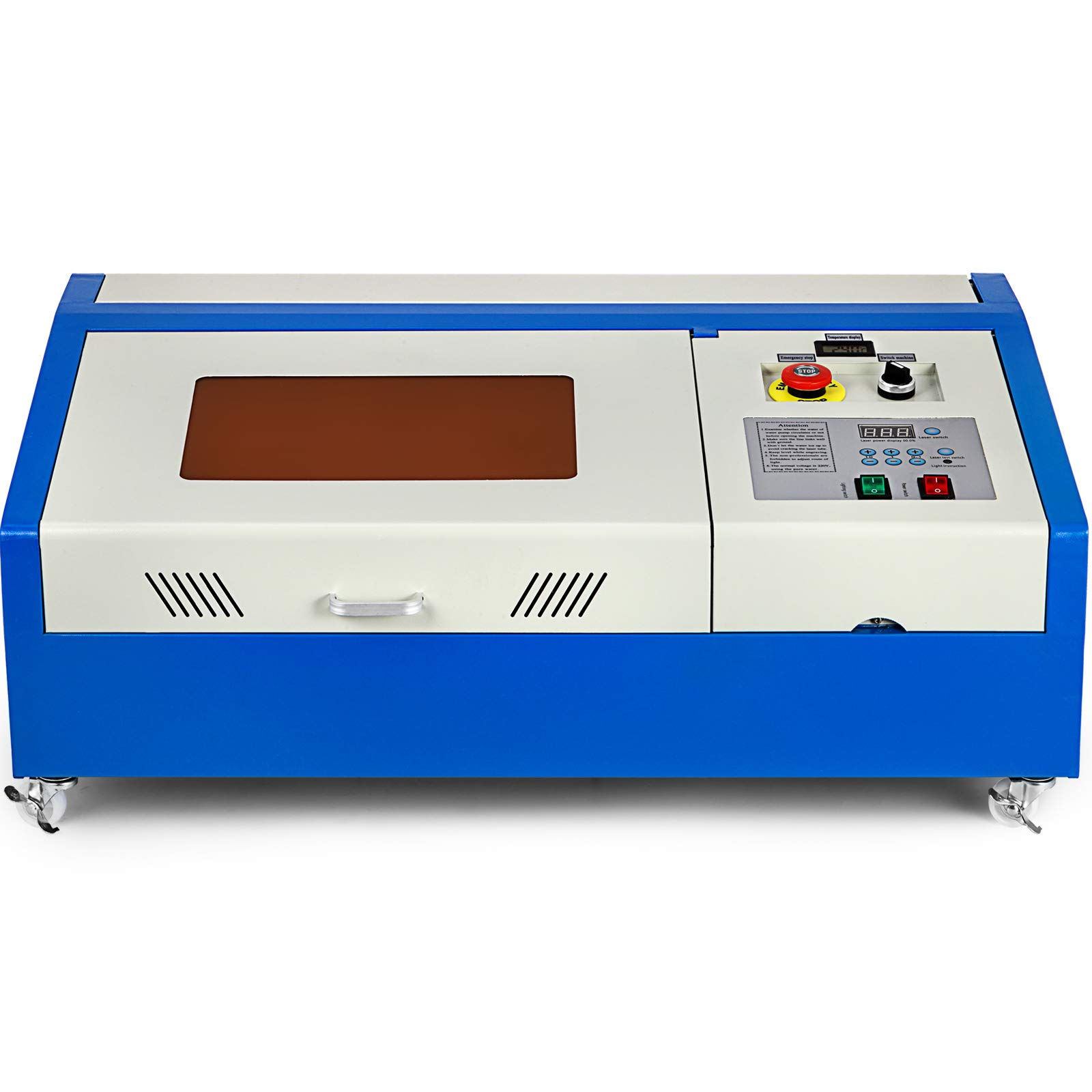 Mophorn Laser Engraving Machine 40W CO2 Laser Engraver 12x8 Inch Laser Cutting Machine USB Port LCD Display with Rotate Wheels(40W 300x200) by Mophorn (Image #4)
