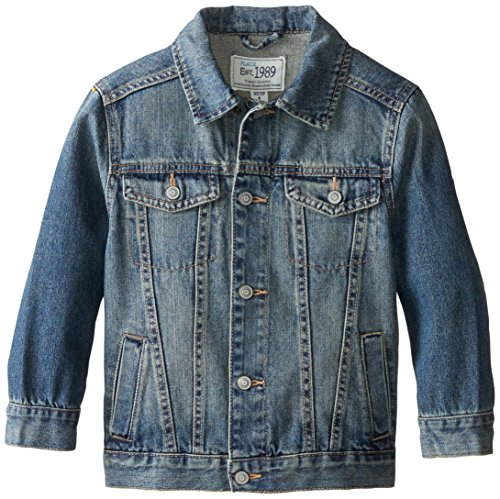 The Children's Place Little Boys' Basic Denim Jacket, Stream, Medium (Leather Jacket Boys 8 20)