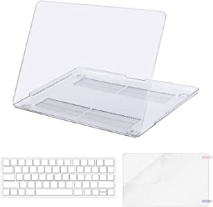 MOSISO MacBook Pro 13 Inch Case 2019 2018 2017 2016 A2159 A1989 A1706 A1708 w/ & w/o Touch Bar,Plastic Pattern Hard Case&Keyboard Cover&Screen Protector Compatible with Mac Pro 13,Cystal Clear