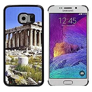 Paccase / SLIM PC / Aliminium Casa Carcasa Funda Case Cover - Architecture Ancient Rome Pillar Building - Samsung Galaxy S6 EDGE SM-G925