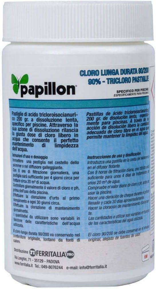Papillon 8324020 Cloro Lento Mantenimiento 90% Pastillas 200 ...
