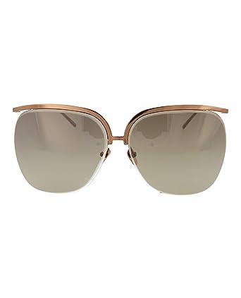 3fd28bb39b091 Amazon.com  Linda Farrow Womens Round Oval Sunglasses LFL271C4-SUN  Clothing