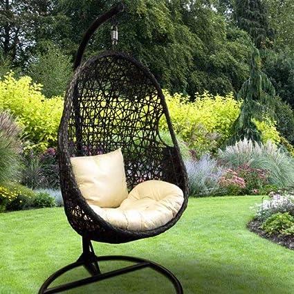 Amazon.com: Jardín para colgar huevo silla con cojín: Jardín ...