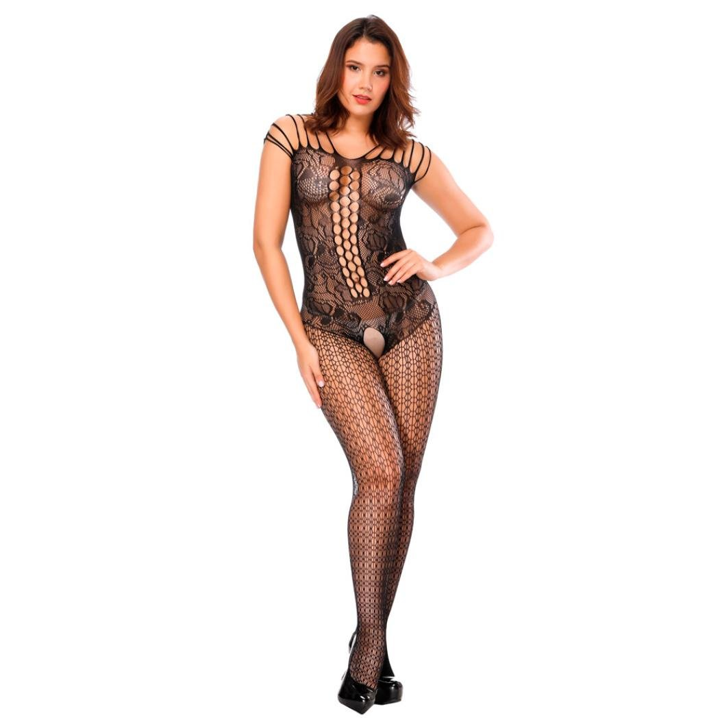70b23d6115 Amazon.com  Balakie Fishnet Bodystocking Women Sexy Lingerie Multiterm  Baldric Bodysuits Nightwear (One Size