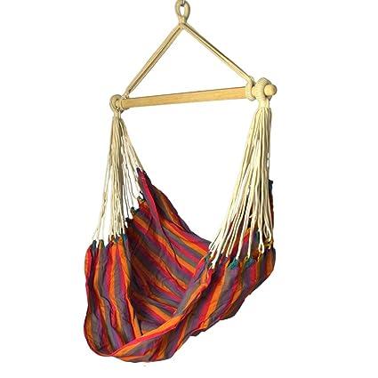 Slack Jack Brazilian Fabric Swing (Red, Blue, Green and Orange)