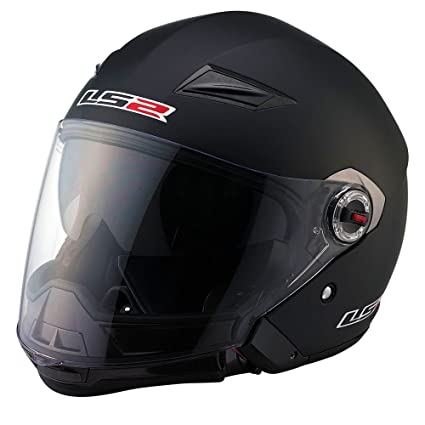 543e33cc Image Unavailable. Image not available for. Color: LS2 OF569 Scape Solid  Open Face Helmet(Matte Black ...
