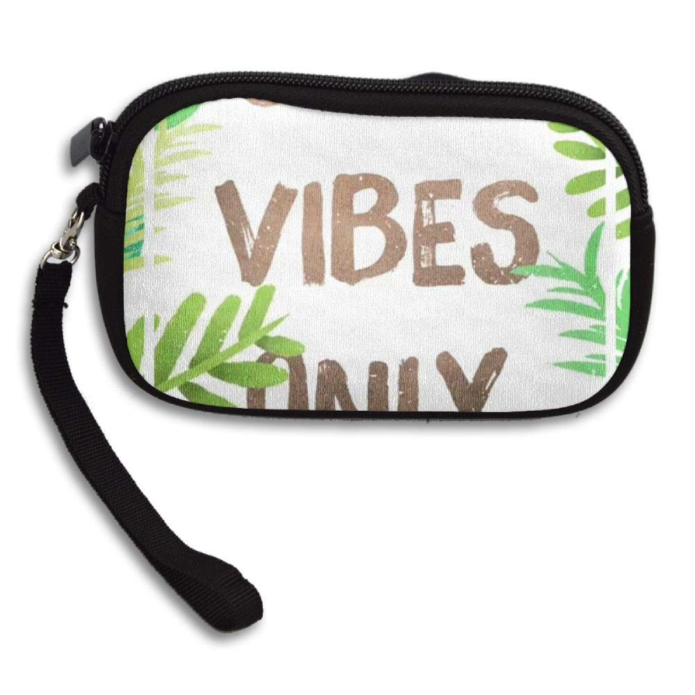 HACVREQ Unisex Personalized Wallet,Good Vibes Only Purse Bag Woman Ladies Men Gentlemen