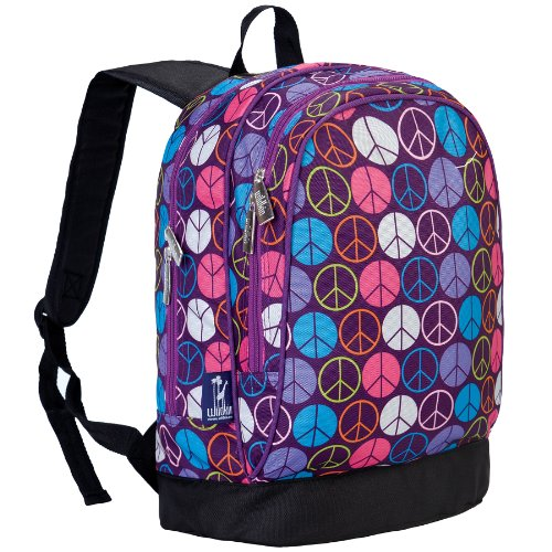 Girls Peace Sign - Wildkin 15 Inch Backpack, Peace Signs