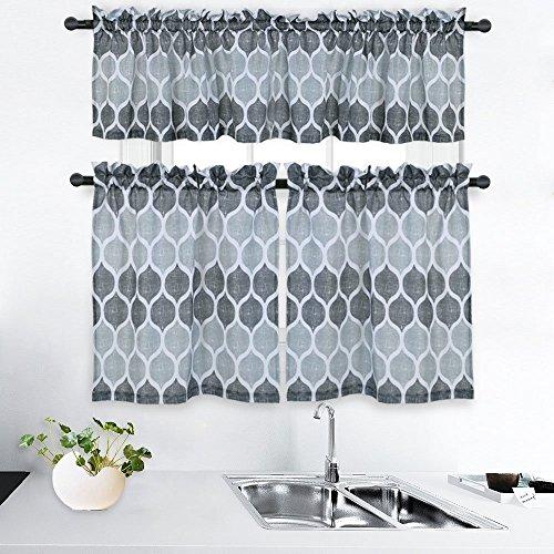 CAROMIO Fashion 3 Pieces Moroccan Pattern Print Kitchen Tier