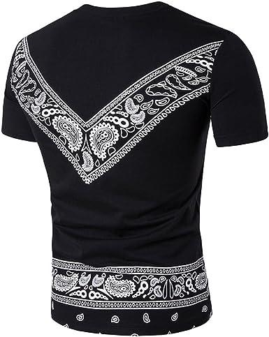 Camiseta para Hombre, RETUROM Hombres Ropa Superior de ...