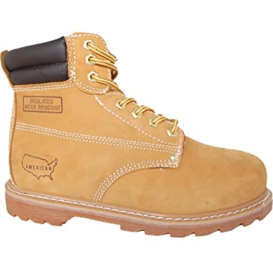 Goodyear Welted Steel Toe Leather 6 Inch Work Boot Men