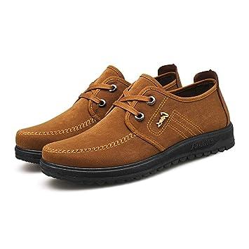 Qiusa Zapatos Antiguos de Tela de Moda de Pekín para Hombres Alpargatas con Cordones Ocasionales Respirables (Color : Caqui, tamaño : EU 40): Amazon.es: ...