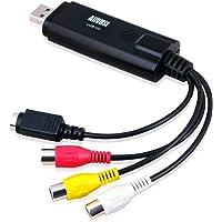 英国品牌 August 奥科斯 VGB100 USB采集卡 USB2.0视频采集卡 监控视频采集棒 视频转换器 中美日欧10国平台同步销售