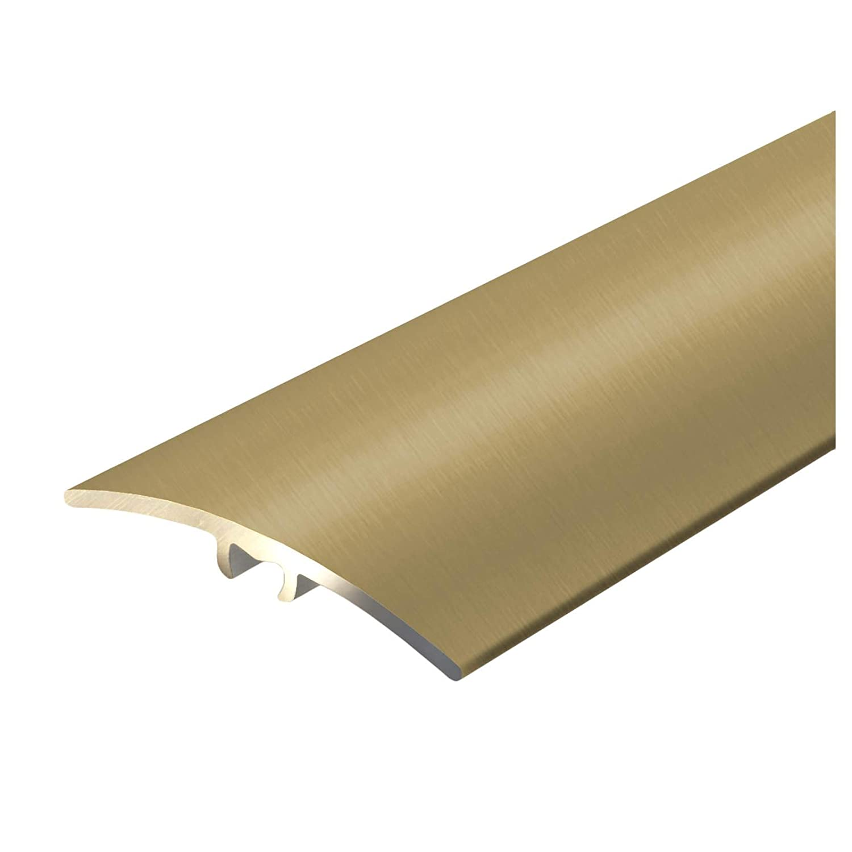 Alu Ü bergangsprofil Firm | T Form | Abdeckleiste mit unsichtbarer Befestigung zum Schrauben | Breite 40 mm | eloxiert Gold | 134 cm casa pura